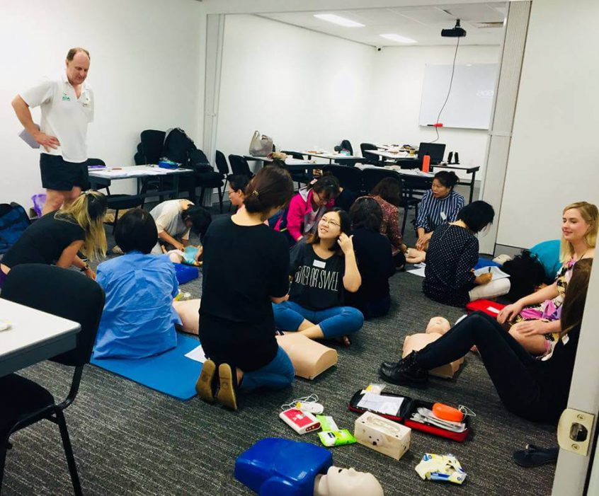 First aid trainer Rob