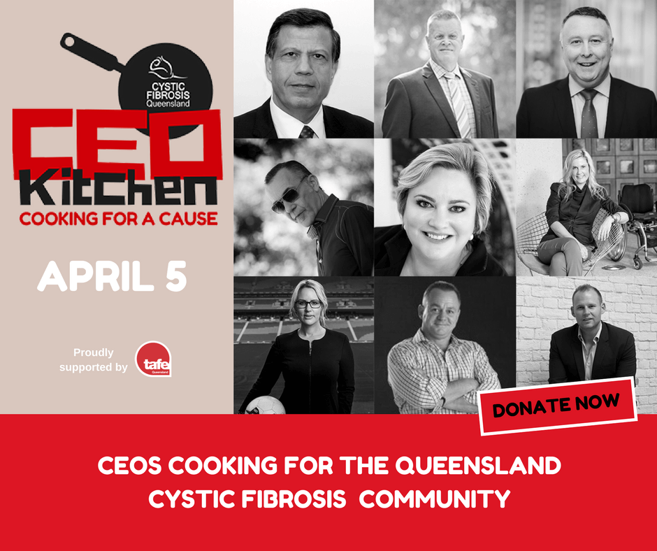 Cystic Fibrosis QLD CEO Kitchen Ahmed Sokarno